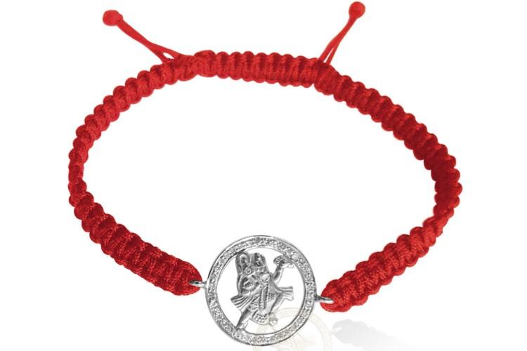 Buy Hanuman Bracelet With Diamond In Silver Online In