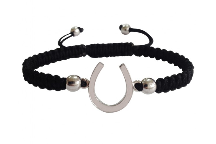 Horse Shoe Good Luck Silver Bracelet