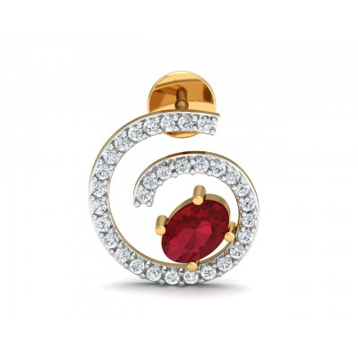 Verica ruby Earrings in Gold with diamonds