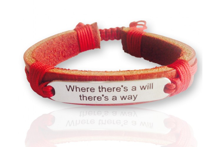 Where There`s A Will Leather Bracelet