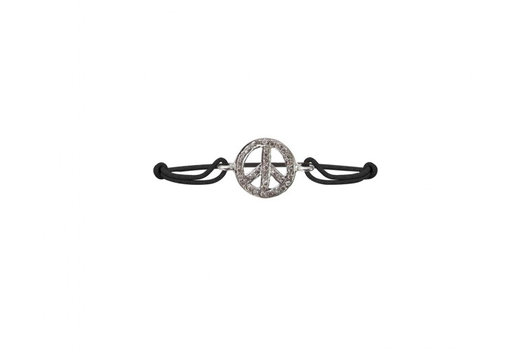 Peace Sign Diamond Bracelet