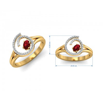 Verica ruby Ring in Gold with diamonds