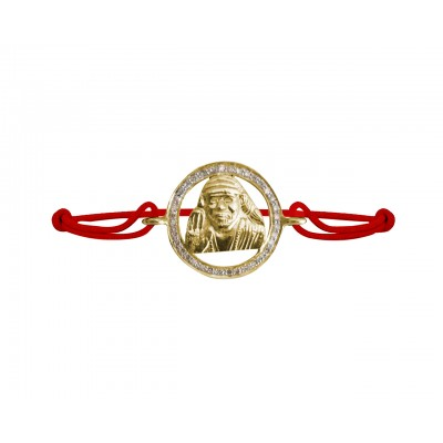 Om Sai Gold & Diamond Bracelet