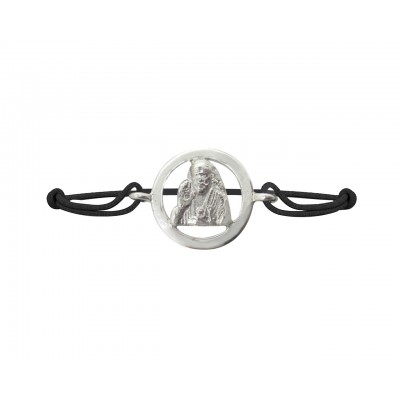 Sai Baba Bracelet in Silver with Diamond