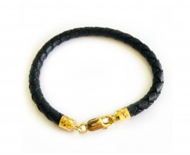 Leather Gift bracelet in Gold