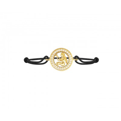 Virgo Bracelet In 14k Gold with 27 Sparkling Diamonds