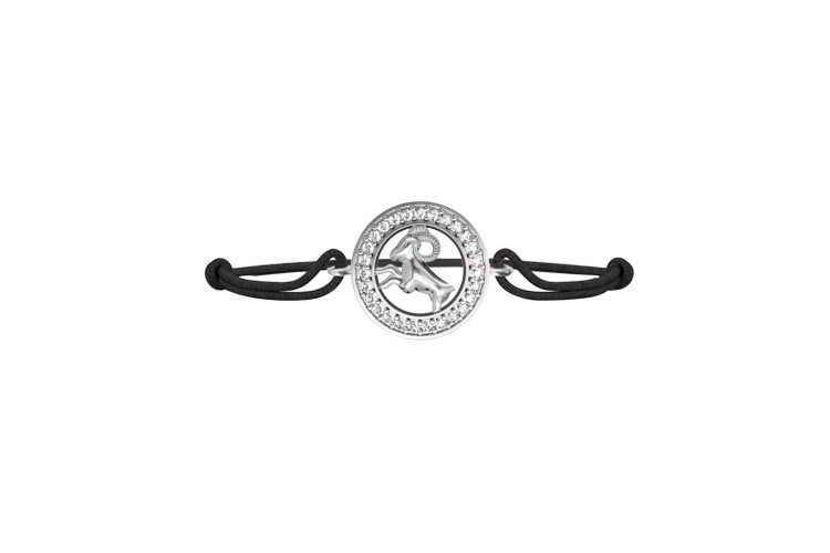 Aquarius Bracelet in Silver Studded with 27 Certified Diamonds