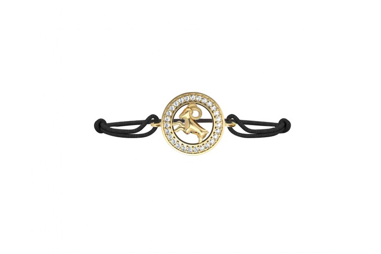 Aries Bracelet in 14k Gold Studded with 27 Diamonds