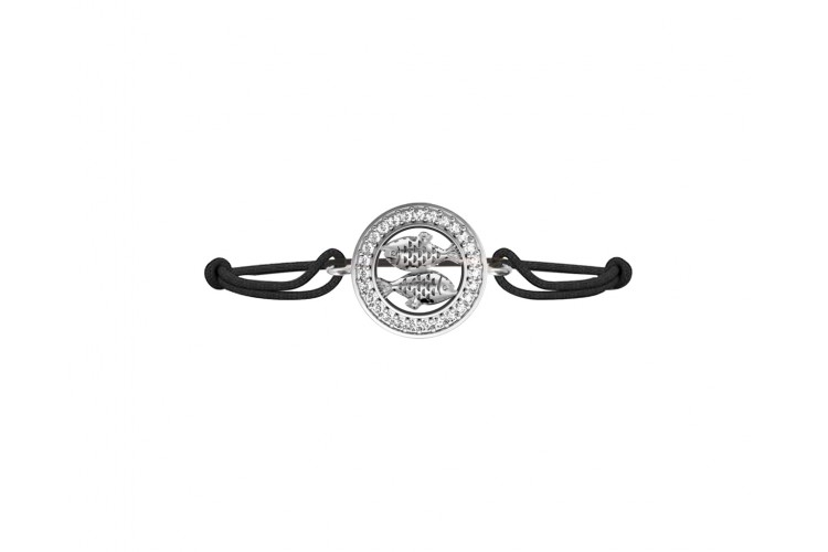 Pisces bracelet in 92.5 silver and studded with 27 diamonds