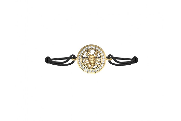 Scorpio Charm Bracelet Studded with diamonds in 14Kt Hallmarked Gold