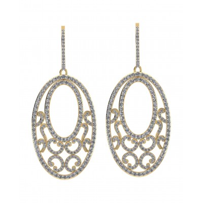Alluring diamond Danglers