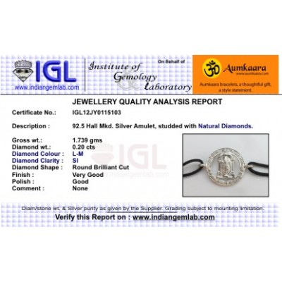Tirupati Balaji Border Diamond Bracelet  16 MM