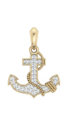 Anchor Charm in Gold