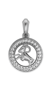 Aries Charm in silver
