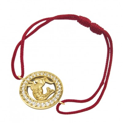 Capricorn bracelet in Gold