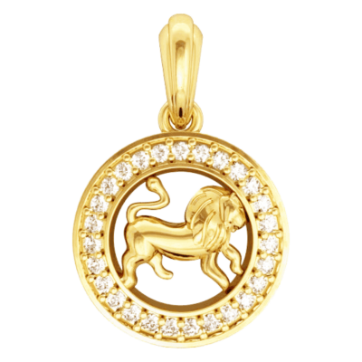 Leo Charm in Gold
