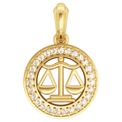Libra Charm in Gold