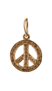 Peace Sign Charm Gold