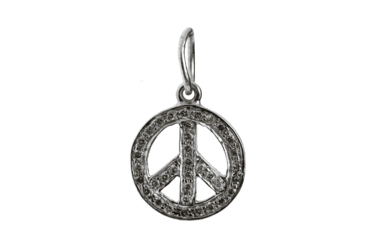 Peace Sign Charm Silver