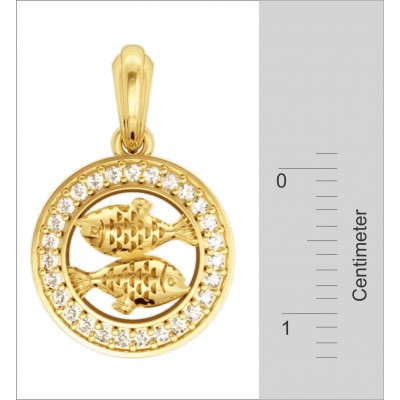 Pisces Charm in Gold