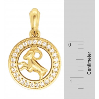 Aries Charm in Gold
