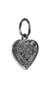 Heart Of Diamonds Charm silver