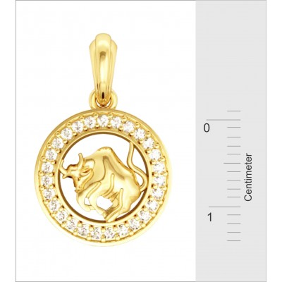 Taurus Charm in Gold