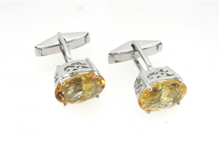 Buy Citrine Cufflinks With Filigri Online In India At Best