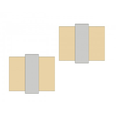 Phillipe Two Tone Gold cufflinks