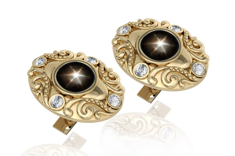 Black Star Diopsite cufflinks