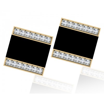 Shaun Black Onyx & Diamond Cufflinks