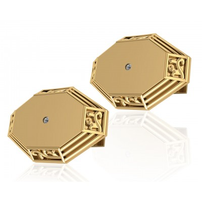 James Simple Gold Cufflinks