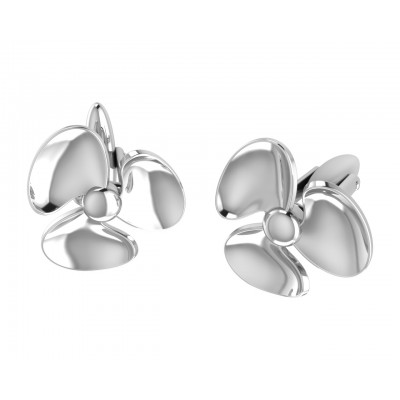 Seafarer's Propellor Cufflinks In Sterling Silver