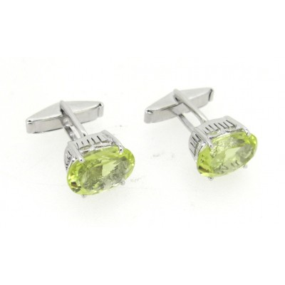 Cufflinks with Lemon Quartz in silver