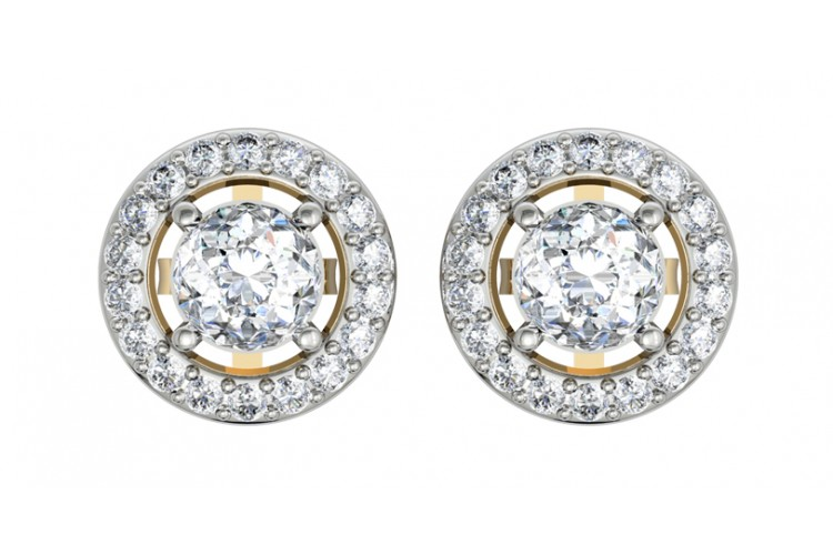 Alluring Diamond Solitaire Cer Earring