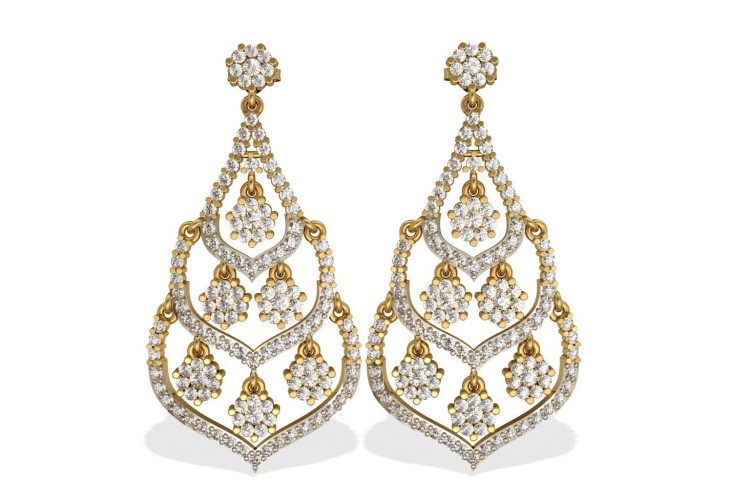 Alluring Diamond cluster danglers
