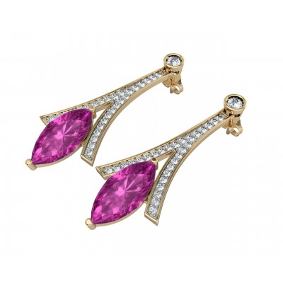 Amethyst with Diamond Earrings