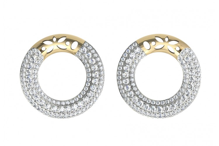 Appealing Diamond Hoops