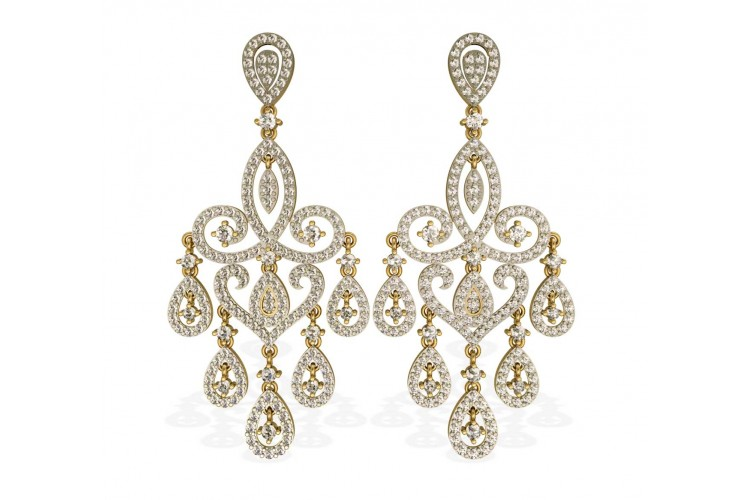 Buy chandelier diamond wedding earrings online in india at best chandelier diamond wedding earrings mozeypictures Image collections