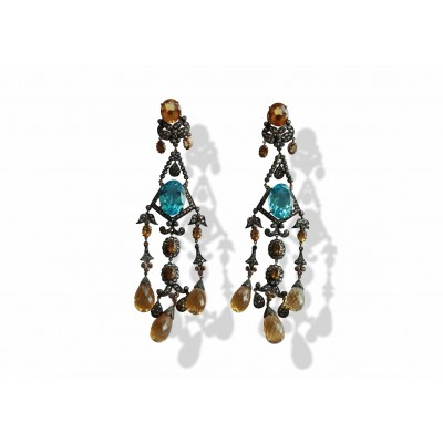 Chandelier earrings shop chandelier earrings online at the best chandelier earrings with blue topaz aloadofball Choice Image