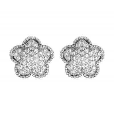 Diamond Flower Earstuds
