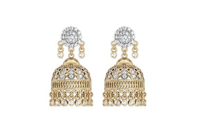 Enchanting Diamond Jhumkis