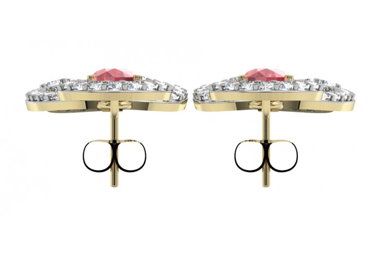 Enticing ruby & Diamond Earrings