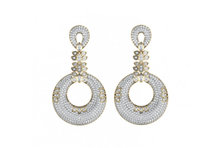 Exquisite Designer Diamond Earrings