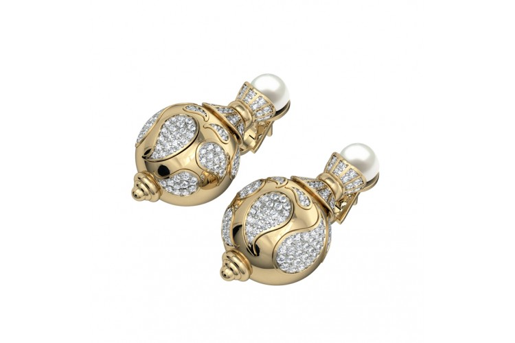 Fetching Pearl & Diamond Earrings