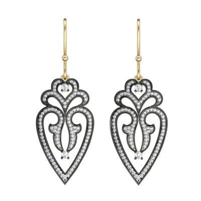 Gold & silver Victorian style earring