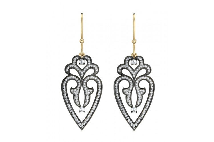 Gold Silver Victorian Style Earring