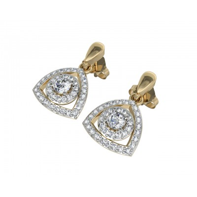 Petite Diana diamond Drop Earrings