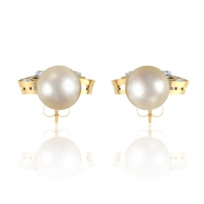 Aarna Pearl & Diamond Earrings