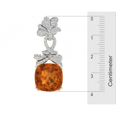 Kate Diamond & Citrine Earrings